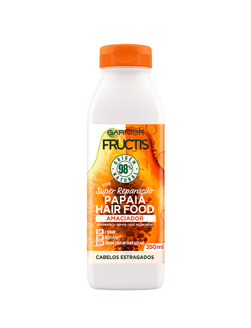 fructis amaciador hairfood papaia