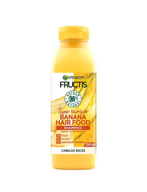 fructis hairfood shampoo banana