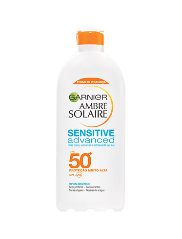 ambre solaire sensitive advanced leite fps 50+
